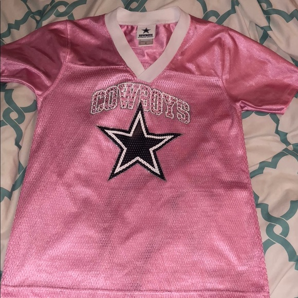 watch 4ae1b e5514 Womens dallas cowboys bling pink jersey